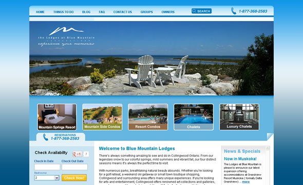 blue mountain lodges